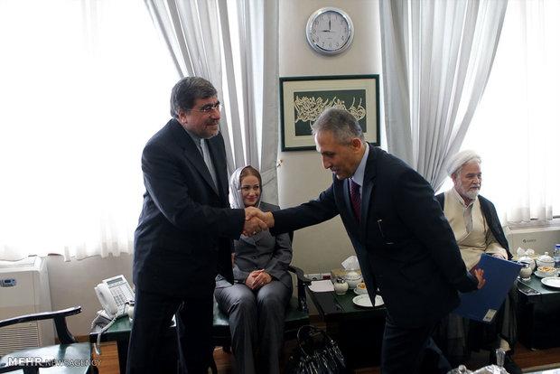 Jannati recieves Syrian minister of information