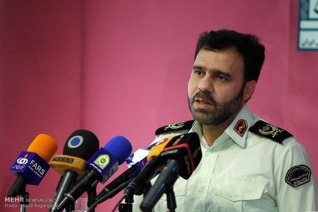 نشست خبری سردار منتظر المهدی سخنگوی نیروی انتظامی
