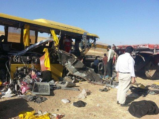 تصادف اتوبوس در سقز