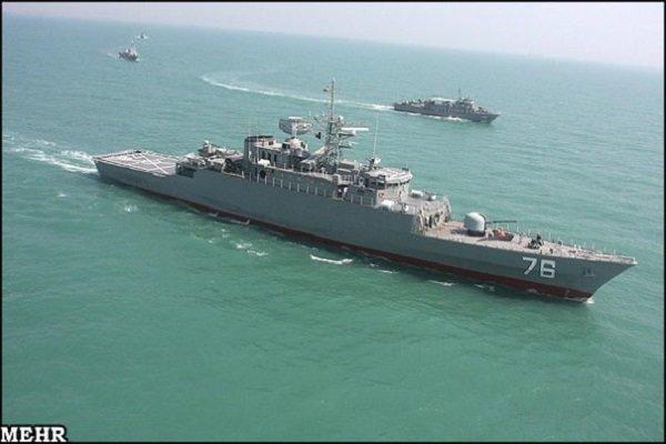 البحرية الايرانية تنقذ سفينتين أجنبيتين من القراصنة في خليج عدن