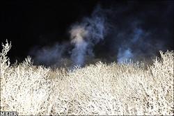 تالاب پريشان آتش گرفت
