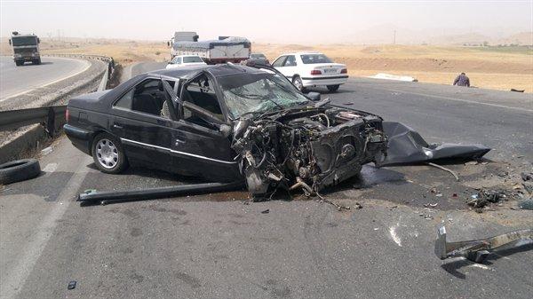 تصادف مرگبار در بزرگراه آزادگان / یک کشته و چهار زخمی