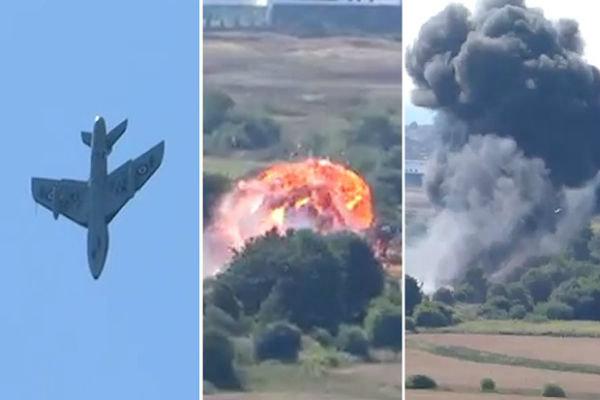 British plane hit cars