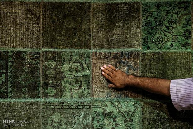 Hand-woven rug exhibition