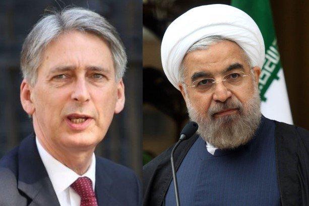 Rouhani to receive Hammond on Mon.