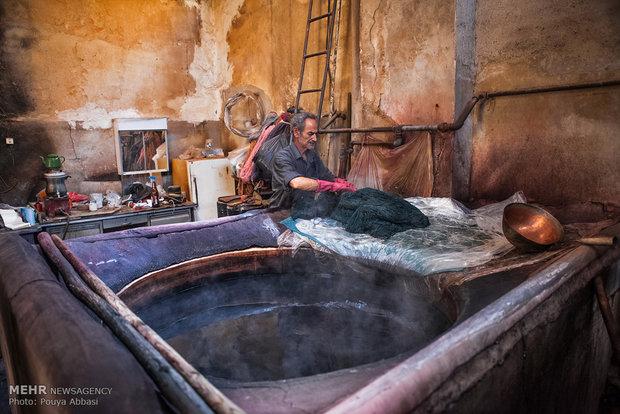Tebriz'de İplik Boyacılığı