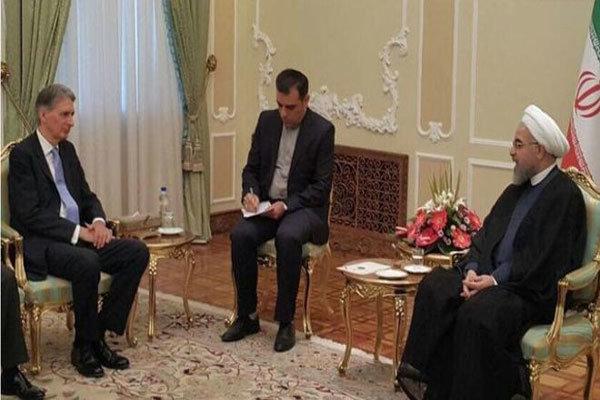 صدر روحانی سے برطانوی وزیر خارجہ کی ملاقات