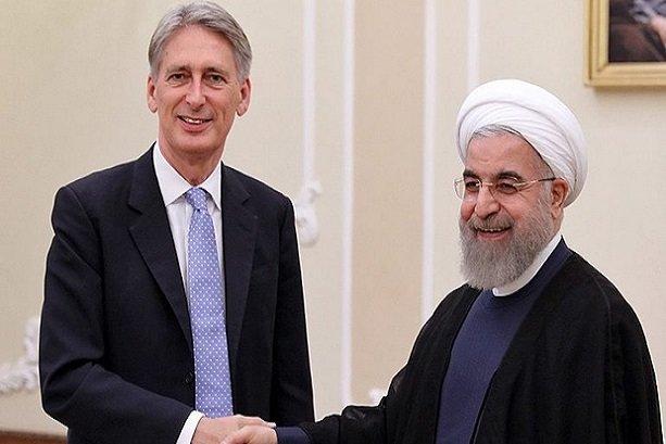 Rouhani, Hammond stress promotion of Tehran-London ties