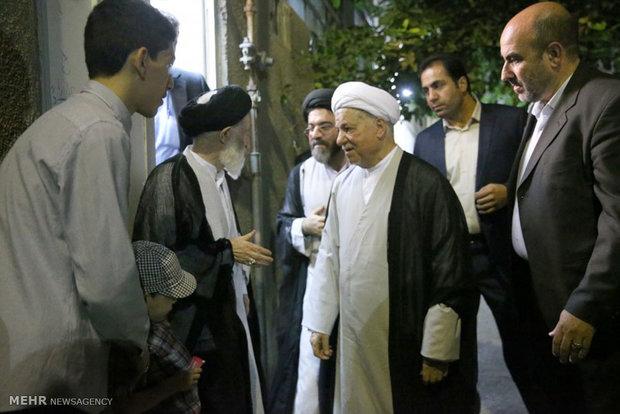 دیدار آیت الله هاشمی رفسنجانی با آیت الله شبیری زنجانی