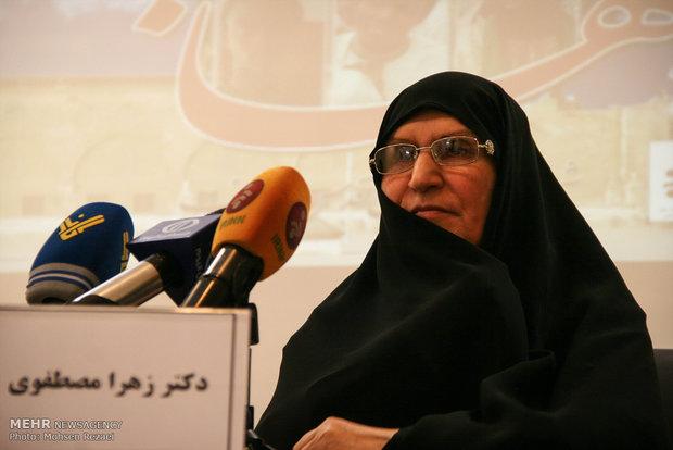Imam Khomeini's daughter Dr. Zahra Mostafavi speaking at ceremony admiring Sheikh Zakzaky commended