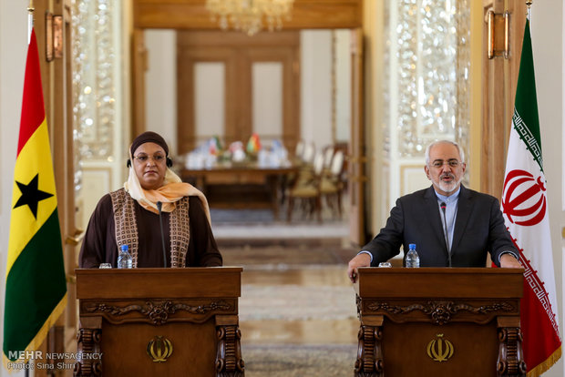 Iran, Ghana FMs hold meeting