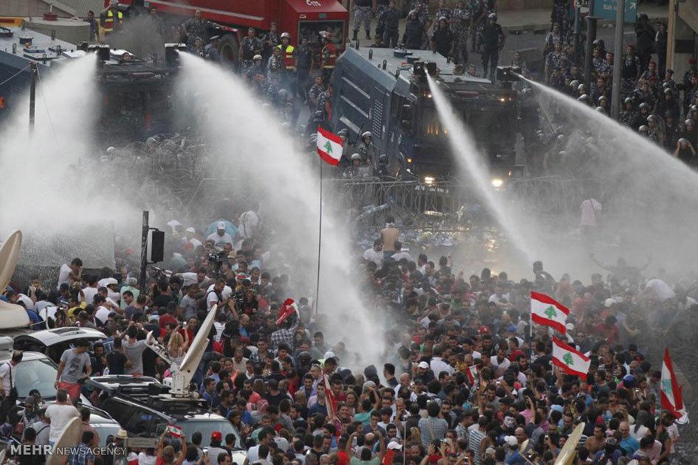 درگیری مردم لبنان به خاطر زباله ها (تصاویر), مجله مراحم