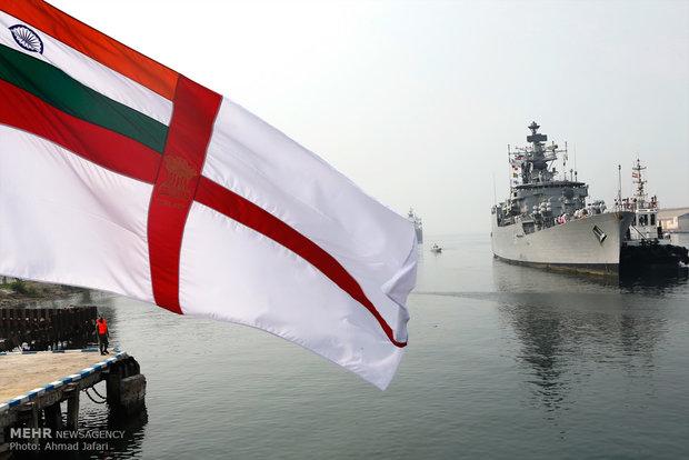 Indian fleet decks at Iranian port