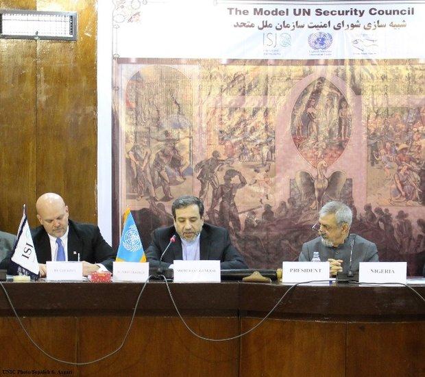 Model UN can improve understanding of it: Araghchi