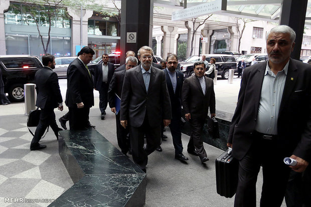 Larijani arrives in New York