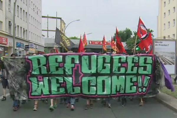 تضامن الشعب الألماني مع اللاجئين