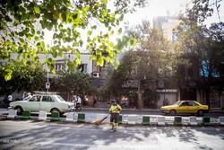 آلودگی ناشی از طوفان تهران