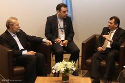 دیدار علی لاریجانی رئیس مجلس با رئیس اتحادیه بین المجالس