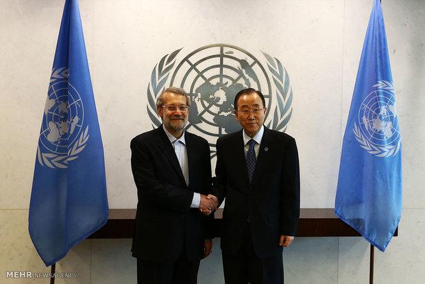 Laricani, Ban Ki-Moon ile görüştü
