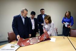 Larijani meets European officials