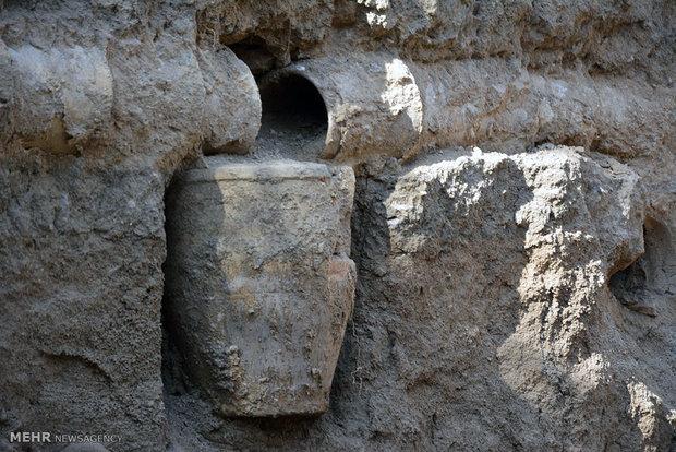 کشف تاسیسات آبرسانی تاریخی در بروجرد
