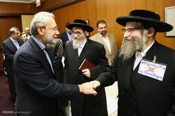 Larijani meets anti-Zionist Jews