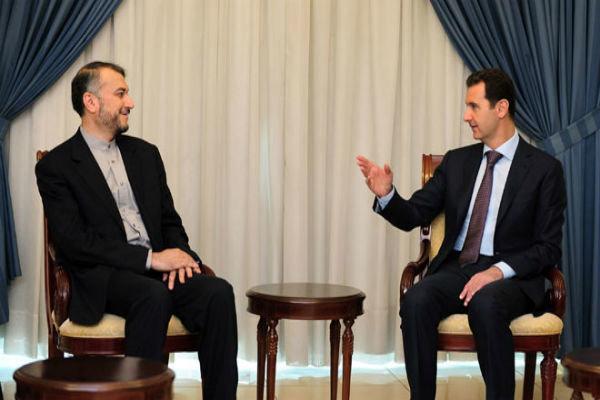 شامی صدر کا شام کی حمایت کرنے پر ایران  کا شکریہ