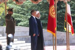 تہران میں قرقیزستان کے صدر کا باضابطہ استقبال