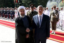 مراسم الاستقبال الرسمية لرئيس جمهورية قرغيزيا
