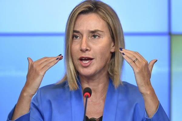 تأكيد موغريني على ضرورة ازالة التوتر بين ايران والسعودية