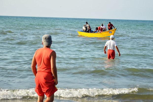 ناجیان غریق در سواحل مازندران