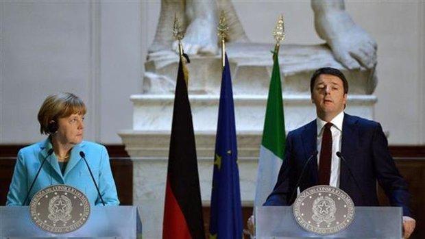 گفتگوی تلفنی نخست وزیر ایتالیا و مرکل درباره مهاجران