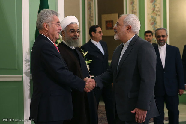 الرئيس حسن روحاني يستقبل الرئيس النمساوي
