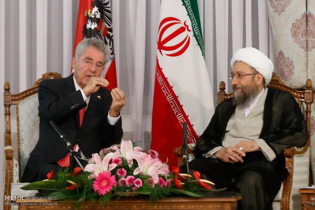 دیدار رئیس جمهور اتریش و رئیس قوه قضاییه