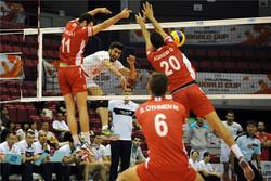 دیدار تیم های ملی والیبال ایران و تونس
