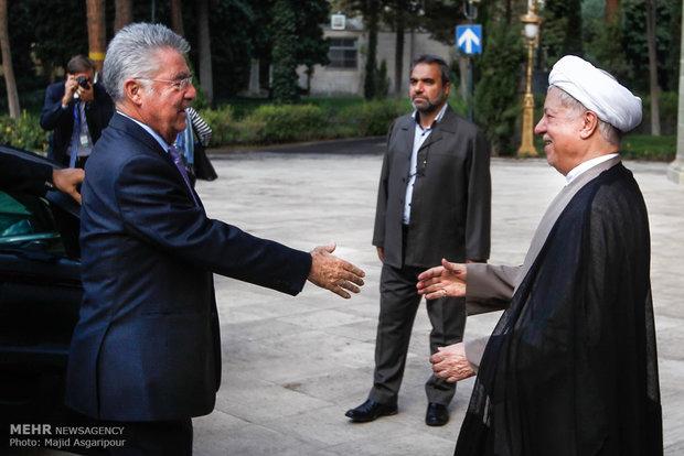 دیدار رئیس جمهور اتریش با آیت الله هاشمی رفسنجانی رئیس مجمع تشخیص مصلحت نظام