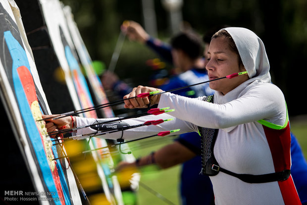 National archers practice session