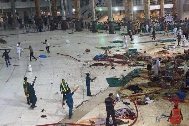 یک زائر ایرانی در حادثه سقوط بالابر در مکه جان باخت