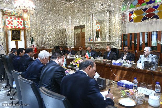 لقاء رئيسي البرلمانين الايراني والعراقي