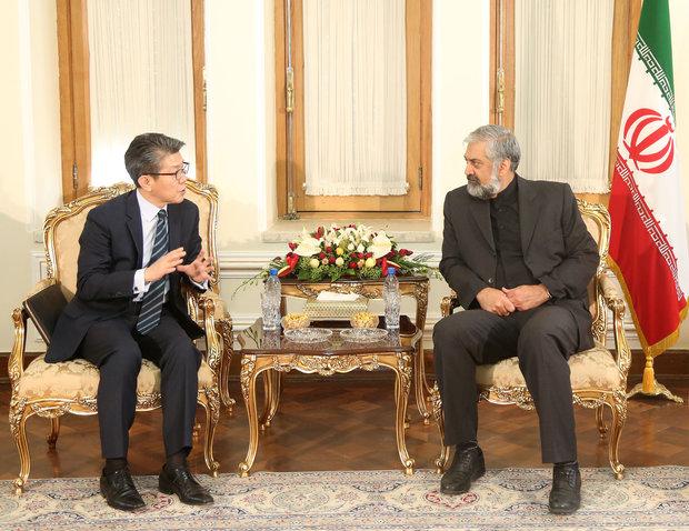 مسؤول كوري جنوبي يؤكد رغبة بلاده في تعزيز العلاقات مع ايران