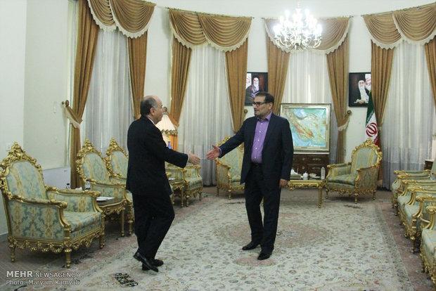 لقاء وزير خارجية البرازيل مع امين المجلس الاعلى للامن القومي