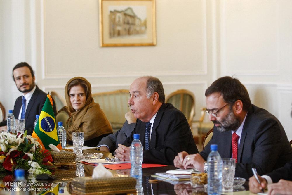 لقاء وزيري خارجية ايران والبرازيل