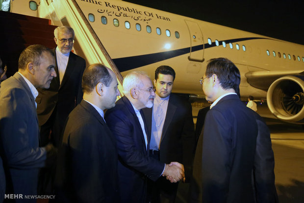 محادثات وزير الخارجية الايراني مع المسؤولين الصينيين