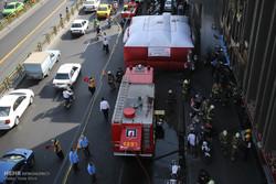 مانور مشترک آتش نشانی و ستاد بحران شهرداری تهران