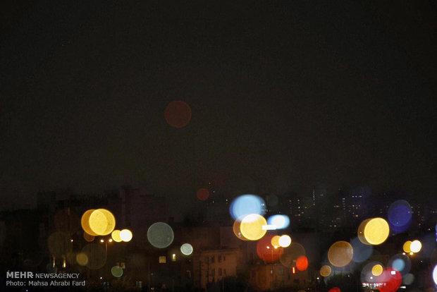 Lightning lights Tehran