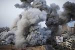 غزہ پر اسرائیلی طیاروں کی شدید بمباری