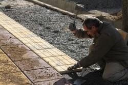 اجرای ۱۰ هزار متر مربع پیاده رو سازی در معابر شهر یاسوج