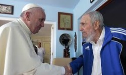 Pope Francis visits Fidel Castro