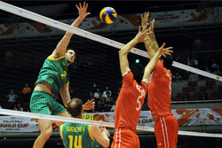 Iran volleyballers lose to Australia in FIVB World Cup