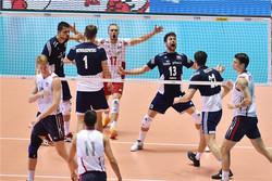 دیدار تیم های ملی والیبال لهستان و آمریکا
